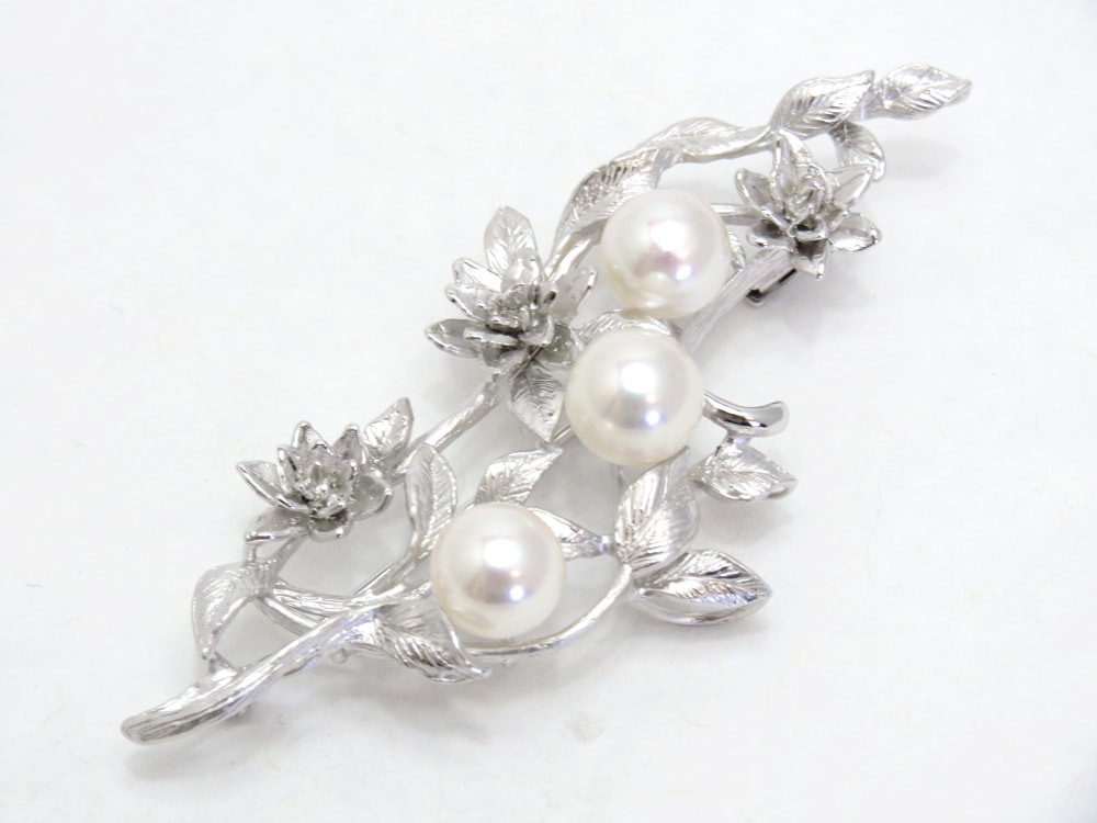 アコヤ真珠ブローチ y-b-139