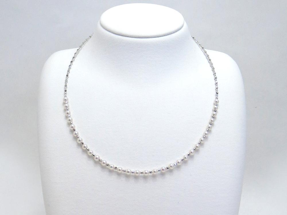 アコヤ真珠ベビーパールデザインネックレス