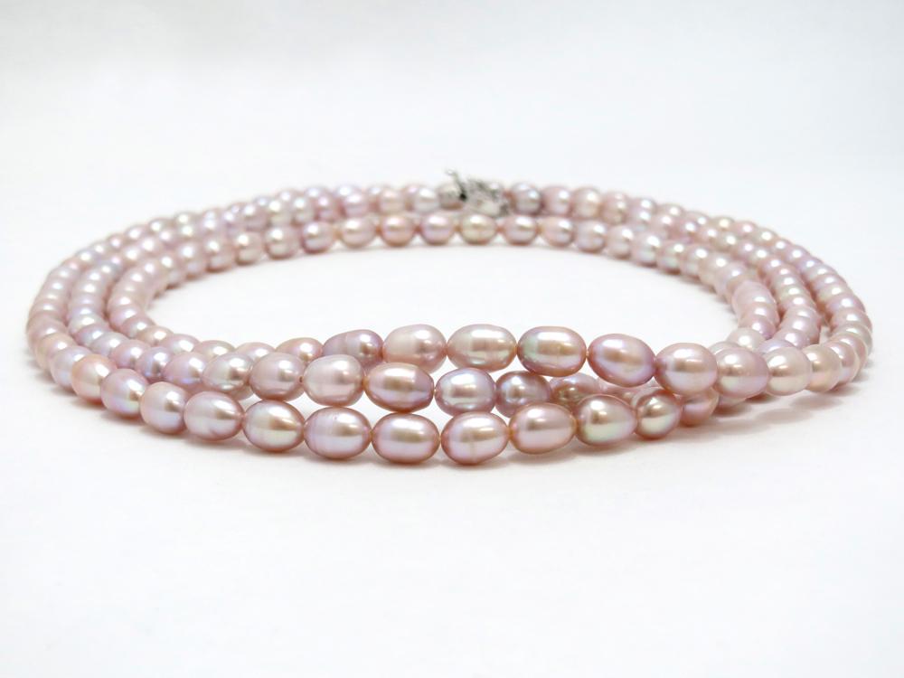 淡水真珠(オーバル)ロングネックレス y-n-611